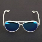 OREKA Fashionable Retro Style Resin Lens UV400 Protection Sunglasses - Transparent