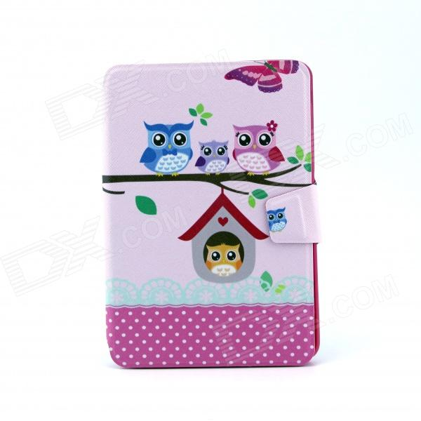 Faminly Owl Pattern 360 Degree Rotating PU Leather Full Body Case with Stand for IPAD MINI / MINI 2 sleeping owl pattern 360 degree rotating pu leather full body case w stand for ipad mini 1 mini 2