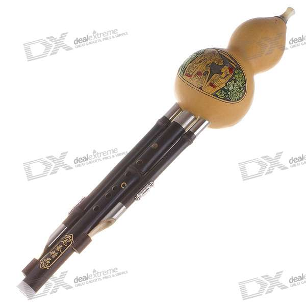 Bottle Gourd Bamboo Flute with Protective Case (C Key)