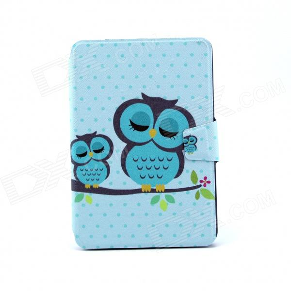 Sleeping Owl Pattern 360 Degree Rotating PU Leather Full Body Case w/ Stand for IPAD MINI 1 / MINI 2 сетевое зарядное устройство cellular line achusbcompactcp pink