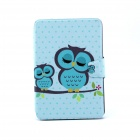 Sleeping Owl Pattern 360 Degree Rotating PU Leather Full Body Case w/ Stand for IPAD MINI 1 / MINI 2