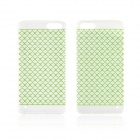 Angibabe 0.3mm Plaid Pattern Protective TPU Back Case for IPHONE 4 / 4S - Green + Transparent