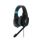 Each G4000 Stereo Pro Gaming Headband Headphone w/ Microphone / Remote / USB / 3.5mm - Blue + Black