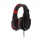 Each G4000 Stereo Pro Gaming Headband Headphone w/ Microphone / Remote / USB / 3.5mm - Red + Black