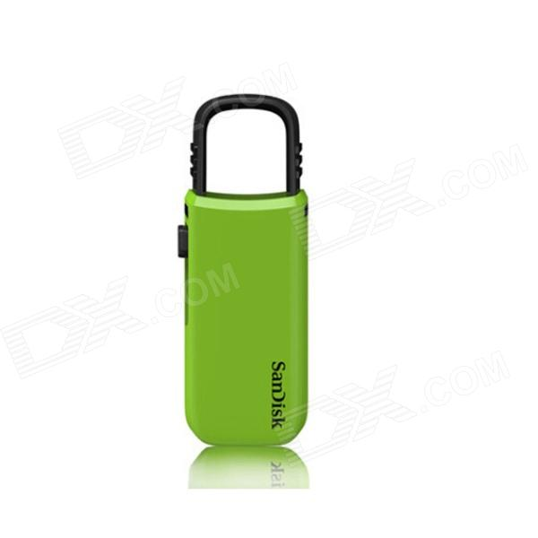 Sandisk CZ59 Portable USB 2.0 Flash Drive - Green + Black (16GB) sp i series handy portable usb flash drive black 16gb