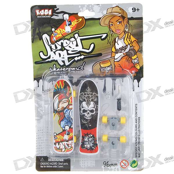 96mm Finger Skateboard/Fingerboard (Pair/Style Assorted)
