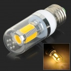 UltraFire E27 9W 180lm 3500K 5-COB Warm White Light Corn Lamp - White (AC 85~265V)