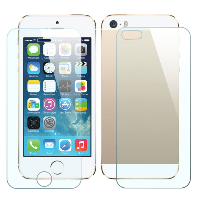 Mr.northjoe Front & Back Tempered Glass Film Protector for IPHONE 5 / 5S (2 PCS)