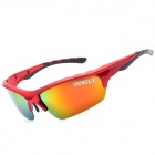 OUMILY Outdoor Cycling UV400 Protection Resin Lens Polarized Sunglasses Goggles - Red