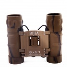 BIJIA 8X21 8x Magnification Night Vision Binoculars HD High-Power Telescope - Camouflage