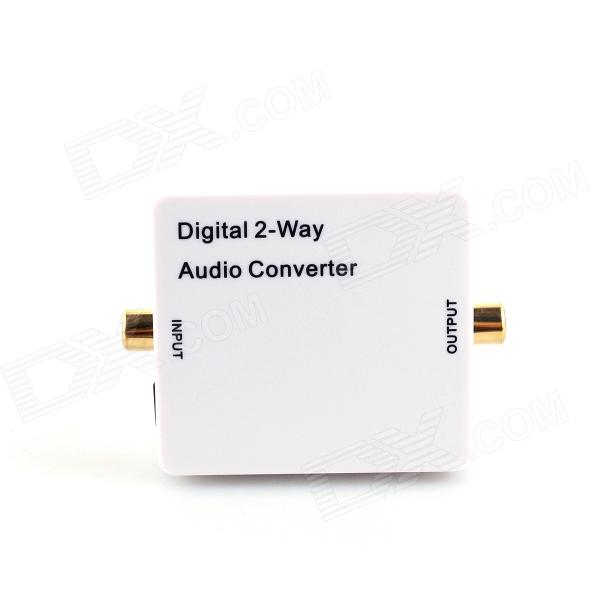 HDA-2CT Digital 2-way Audio Converter w/ Coaxial / Toslink / Mini USB - White hertz uno x 130 2 way coaxial