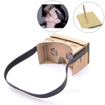 DIY Cardboard Virtual Reality 3D Glasses - Brown