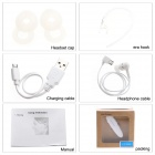 Link Dream LC-B40 Bluetooth V4.0 Handsfree Stereo Headset with Microphone - White