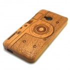 Camera Style Detachable Protective Bamboo Back Case for HTC ONE M7