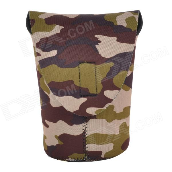 CADEN Protective High Elastic Dual-Sided Cloth Bag for DSLR Camera Lens - Camouflage (Size XL) general xl lens bag case for common camera lens