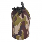 CADEN Protective High Elastic Waterproof Cloth Bag for DSLR Lens - AT Camouflage (Size L)