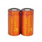 TrustFire High-rate Rechargeable 3.7V 650mAh 10C Lithium-ion 16340 Batteries - Red + Orange (2 PCS)