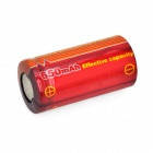 TrustFire de alta tasa recargable 3.7V 650mAh 10C de litio-ion 16340 - Red + Orange (2 PCS)