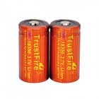 TrustFire High-rate Discharge 3.7V 700mAh 10C Lithium-ion 18350 Batteries - Red + Orange (2 PCS)