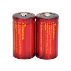 TrustFire de alta velocidad de la descarga 3.7V 700mAh 10C de litio-ion 18350 Baterías - Red + Orange (2 PCS)