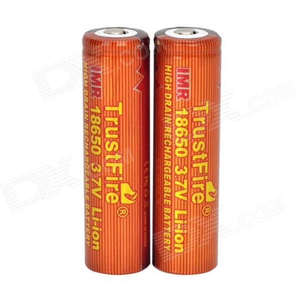 TrustFire High-rate Discharge 3.7V 1500mAh 20C Lithium-ion 18650 Batteries - Red + Orange (2 PCS) ultrafire protected 18650 3 7v 2400mah lithium batteries 2 pack grey