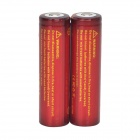TrustFire High-rate Discharge 3.7V 1500mAh 20C Lithium-ion 18650 Batteries - Red + Orange (2 PCS)