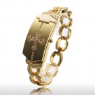 Fashionable Women's Zinc Alloy Quartz Bracelet Watch - Golden (1 x 377)