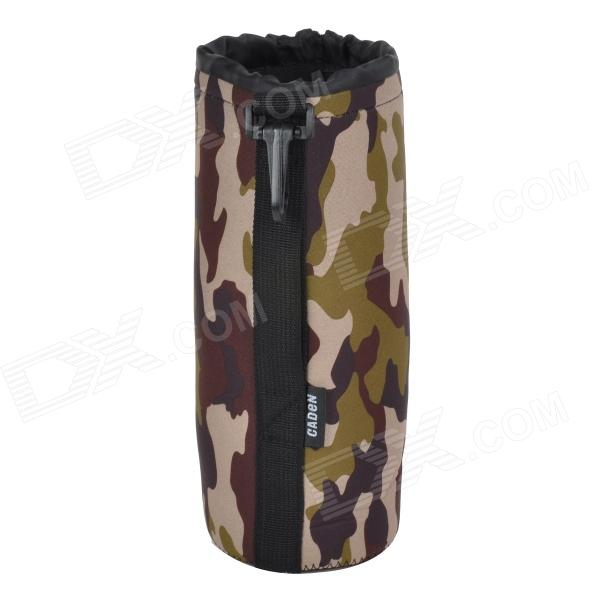 CADEN Protective High Elastic Waterproof Cloth Bag for DSLR Lens - AT Camouflage (Size XL)