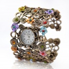 Women's Fashionable Bracelet Style Quartz Wrist Watch - Multi-Colored (1 x 377)