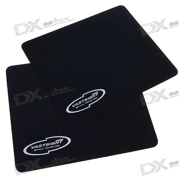 Quality Optical Mouse Pad - Black (2-Pack)