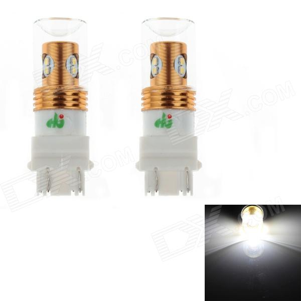 HJ 3157 8W 750lm 6500K 8-SMD 2323 LED Bulb for Car Steering / Reversing Lamps (12~24V, 2PCS) hj h16 8w 600lm 6500k 8 smd 2323 led white steering reversing lamp for car 12 24v 2pcs