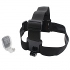 J084-1 Headband Holder + Backpack Mount Clip for Gopro Hero 4/SJ4000 - Black + Transparent