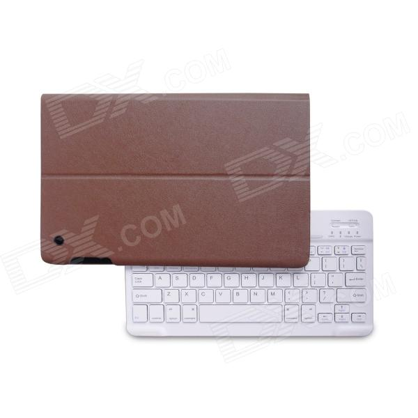 B.O.W Detachable Bluetooth V3.0 Keyboard With PU Leather Case for IPAD AIR - Brown + White