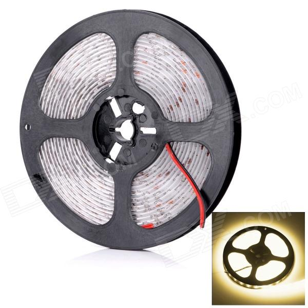 HML L14 3600lm 3300K 300-SMD 3014 LED Warm White Light Strip - White + Yellow (DC 12V / 5M)