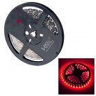 HML B28 Water-resistant 36W 1600lm 670nm 300-SMD 3528 LED Red Light Strip - Black (DC 12V / 5M)