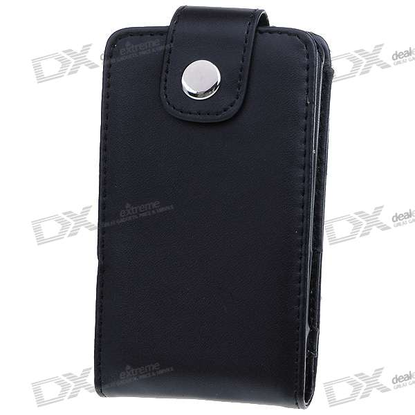 Protective Leather Case with Clip for Ipod Touch 2/3 (Black)