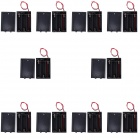 CM01 Professional DIY 3 x AA Battery Holder Case Box with Lead / Line and Cap (10 PCS)