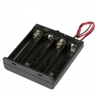 CM01 Professional DIY 4 x AA Battery Holder Case Box with Lead / Line and Cap (10 PCS)