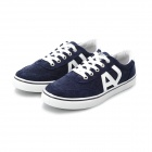 Shang-Jin Men's England Style Canvas Casual Shoes - Blue + White (European Size 42)