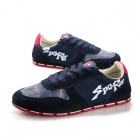 Shang-Jin Men's Casual Skateboard Shoes - Navy Blue + Red + White (European Size 42)