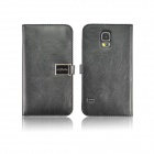 Angibabe PU Leather Case with Card Slots for Samsung Galaxy S5 - Black