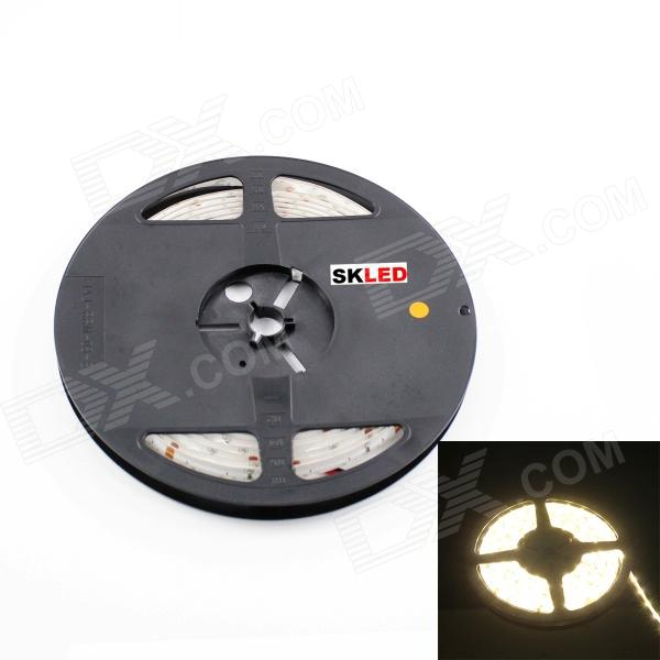 SKLED 36W 30000mcd 3500K 335 SMD LED Warm White Light Waterproof Car Decorative Light Strip(12V/5m)