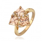 Shiny Fashionable Rhinestone Ornament Ring for Women - Golden (U.S Size 8)