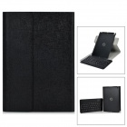 Detachable TPU + ABS Bluetooth V3.0 64-Key Keyboard Case w/ Cover for IPAD AIR - Black