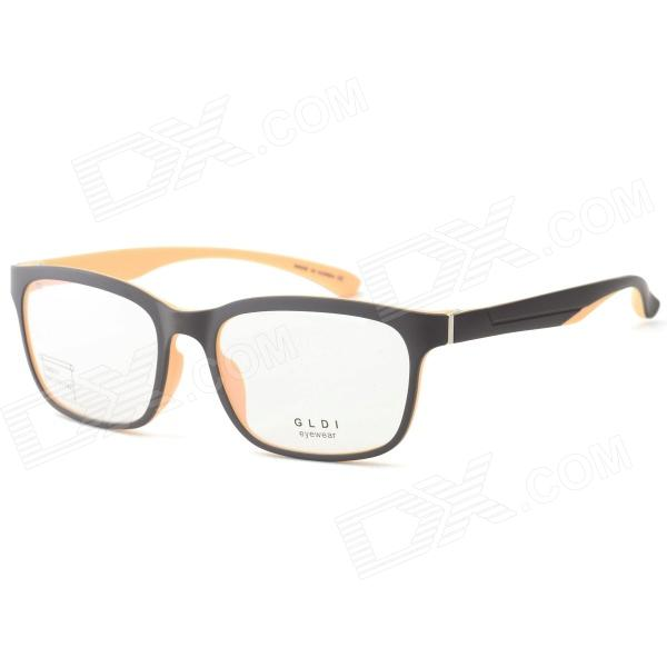 G8201 Stylish TR90 Frame PC Lens Optical Sunglasses - Black + Yellow