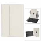 Detachable TPU + ABS Bluetooth V3.0 59-Key Keyboard Case for RETINA IPAD MINI 2 / 1 - Silvery White