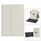 Detachable TPU + ABS Bluetooth V3.0 64-Key Keyboard Case w/ Cover for IPAD AIR - Silvery White