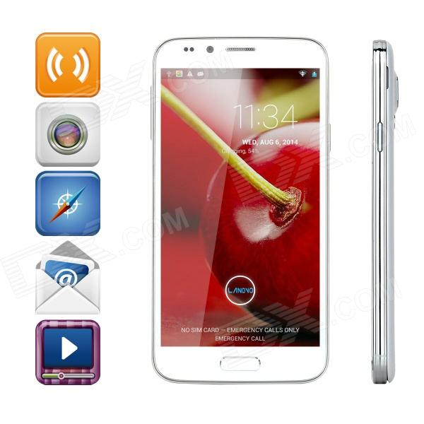 LANDVO L900 Quad-core Android 4.2.2 WCDMA Bar Phone w/ 5.0 Screen, Wi-Fi and GPS - White аксессуар защитное стекло onext 3d для apple iphone 7 red 41325