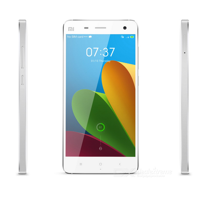 Xiaomi Mi 4 Quad-core Android 4.4.3 Bar Phone w/ 5.0 Screen, RAM 3GB, ROM 16GB - White huawei ascend p7 android os 4 4 quad core bar phone w 5 0 13mp camera ram 2gb rom 16gb black