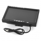 "7"" HD TFT Color Monitor w/ HDMI for Car - Black"
